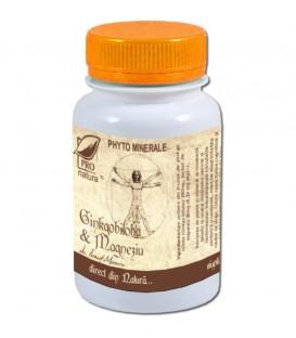 Ginkgo Biloba & Magneziu, 60 capsule