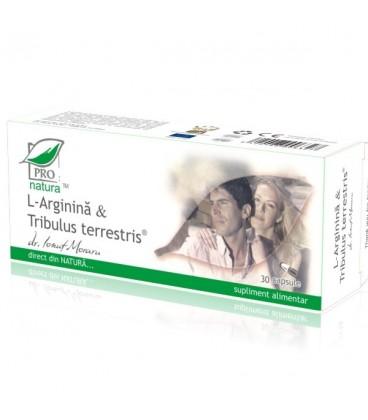 L−arginina & Tribulus Terrestris, 30 capsule