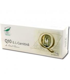 Q10 & L-carnitina, 30 capsule