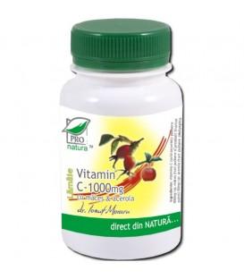 Vitamina C 1000 mg cu Maces & Acerola (aroma Lamaie), 100 tablete