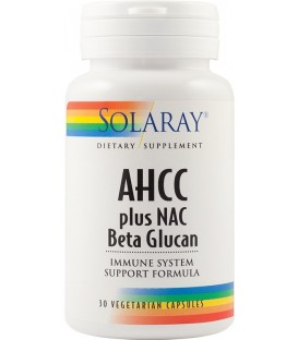 Ahcc Plus Nac & Beta Glucan, 30 capsule