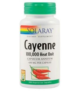 Cayenne (ardei iute) 450 mg, 100 capsule