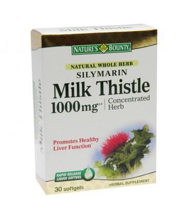 Silymarin Milk Thistle 1000mg, 30 capsule