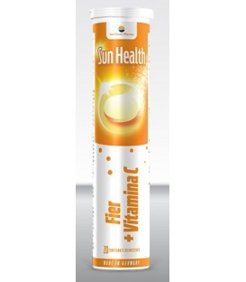 Fier + vitamina C - Sun Health, 20 tablete