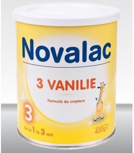 Lapte praf Novalac 3 (aroma de vanilie), 400 grame