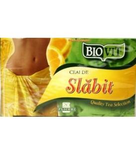 Biovit - Ceai de slabit cu lamaie, 20 doze