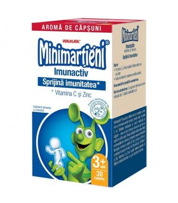 Minimartieni Imunactiv capsuni, 30 comprimate