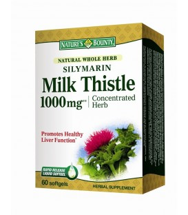 Silymarin Milk Thistle 1000 mg, 60 capsule