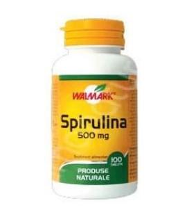 Spirulina 500 mg, 100 comprimate