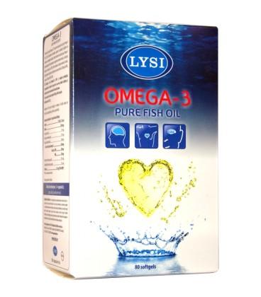 Omega-3 Ulei pur de peste, 80 capsule