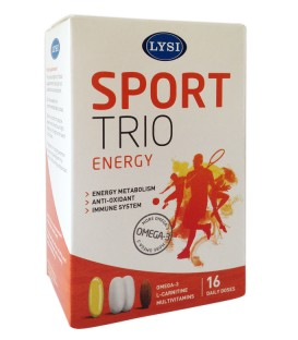 Sport Trio 16 capsule+32 comprimate L-Carnitina+Vitamine & Minerale, 16 capsule