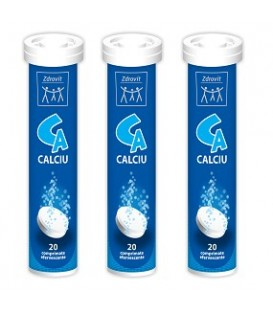 Calciu efervescent, 20 tablete