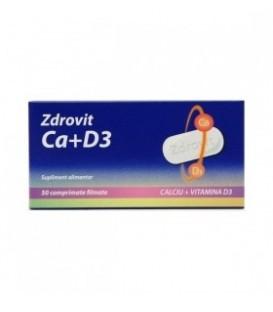 Calciu+Vitamina D3, 50 comprimate