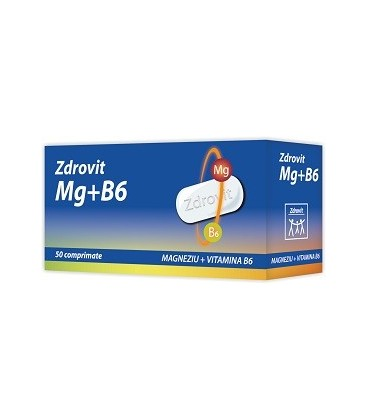 Magneziu + Vitamina B6,  50 comprimate