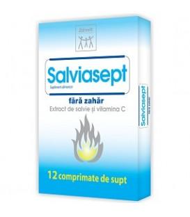 Salviasept (fara zahar), 12 tablete