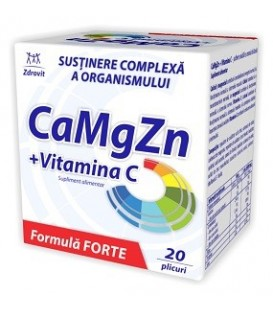 Ca+Mg+Zn+Vitamina C Forte, 20 doze