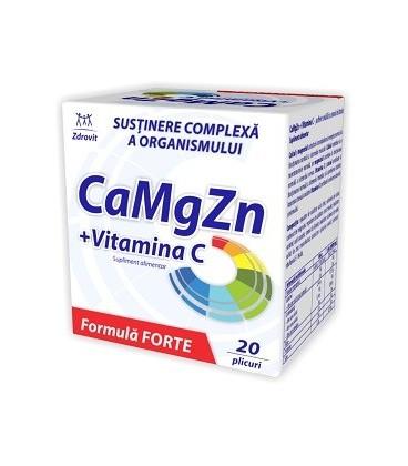 Ca+Mg+Zn+Vitamina C Forte, 20 doze