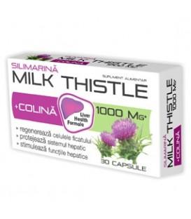 Milk Thistle + Colina, 30 capsule