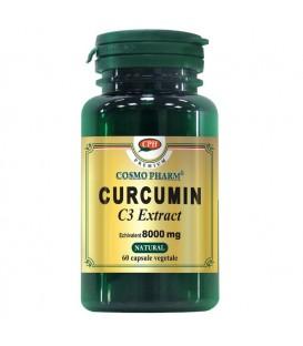 Curcumin C3 Extract 400 mg echivalent 8000 mg, 60 capsule