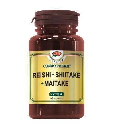 Premium Reishi Shitake Maitake, 60 capsule