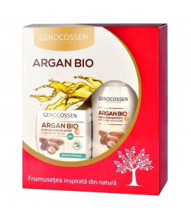 Set Cadou Argan Bio(Crema hidratanta 25+ Lapte demachiant. gratis)