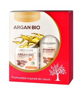 Set Cadou Argan Bio(Crema Riduri Fine+35ani & Lapte demachiant gratis)