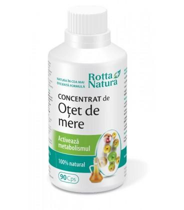 Otet de mere concentrat cu metabolism activ, 90 capsule