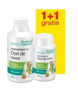 Concentrat de otet de mere, 90 + 30 capsule (promotie)