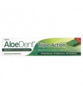 Pasta de dinti  tripla actiune  cu Aloe+Q10, 100 ml