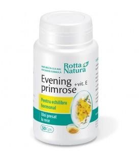 Evening Primrose + Vitamina E, 30 capsule