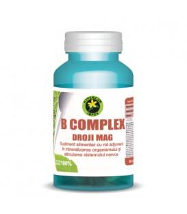 B Complex droji magneziu,  60 capsule