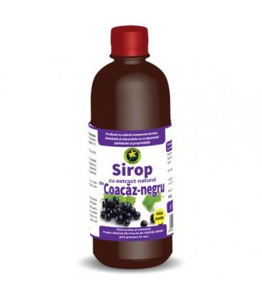 Sirop de coacaz negru fara zahar, 500 ml