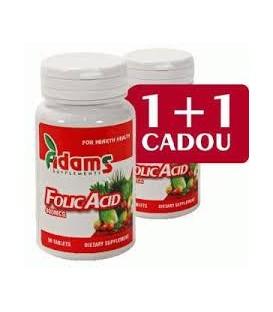 Acid folic 400µg, 30 comprimate 1+1 gratis