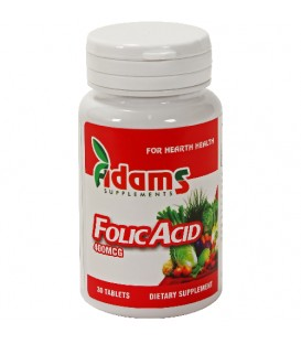 Acid Folic 400µg, 30 tablete