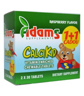 Calcikid,30 comprimate masticabile 1+1 gratis