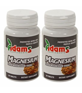 Magneziu 375mg, 30 comprimate 1+1 gratis