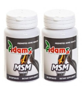 MSM 1000 mg, 30 capsule  1+1 gratis