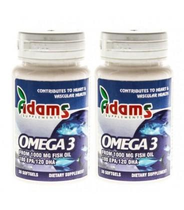 Omega 3 1000mg, 30 capsule 1+1 gratis