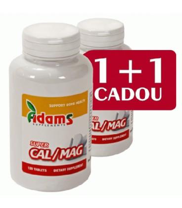 Super Calciu/Magneziu, 30 comprimate 1+ 1 gratis