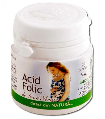 Acid folic, 25 capsule