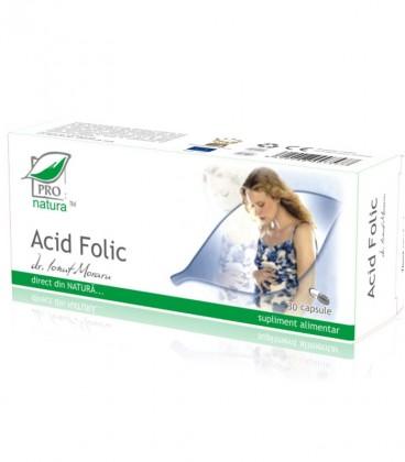 Acid folic, 30 capsule