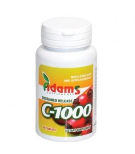 Vitamina C 1000 mg cu macese, 60 tablete