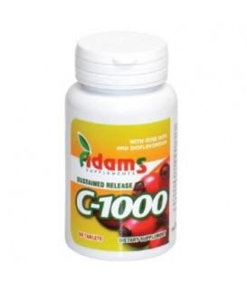 Vitamina C 1000 mg cu macese, 60 tablete