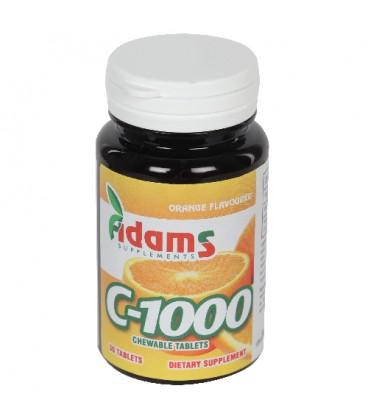 Vitamina C 1000 mg, 30 comprimate masticabile