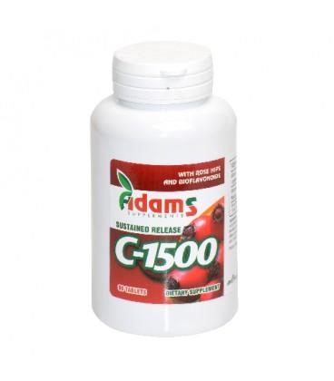 Vitamina C 1500 mg cu macese, 90 tablete
