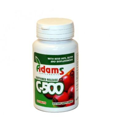 Vitamina  C cu macese 500 mg, 30 capsule