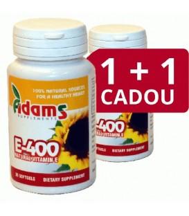 Vitamina E naturala 400 mg, 30 capsule  1+1 gratis