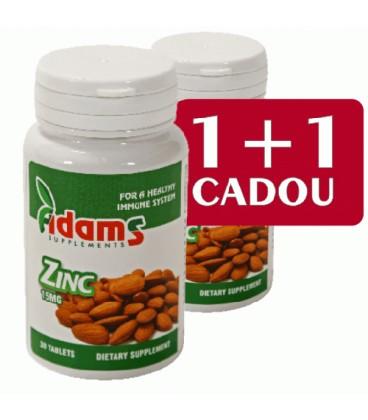 ZINC 15 mg, 30 comprimate 1+1 gratis