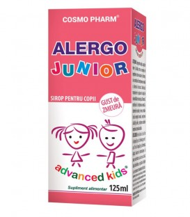 Sirop Alergo Junior cu gust de zmeura, 125 ml