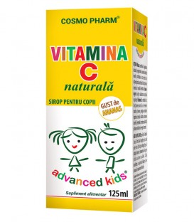 Sirop Vitamina C naturala cu gust de ananas, 125 ml